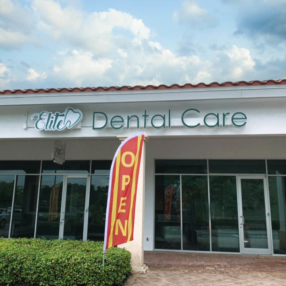exterior of the Elite Dental Care office